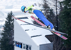 03.01.2015, Bergisel Schanze, Innsbruck, AUT, FIS Ski Sprung Weltcup, 63. Vierschanzentournee, Training, im Bild Marat Zhaparov (EST) // Marat Zhaparov of Estonia in action during Trial Jump of 63 rd Four Hills Tournament of FIS Ski Jumping World Cup at the Bergisel Schanze, Innsbruck, Austria on 2015/01/03. EXPA Pictures © 2015, PhotoCredit: EXPA/ Peter Rinderer