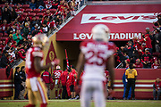 San Francisco 49ers running back Carlos Hyde (28) leaves the field after being ejected from the game for a fight against the Arizona Cardinals at Levi's Stadium in Santa Clara, Calif., on November 5, 2017. (Stan Olszewski/Special to S.F. Examiner)