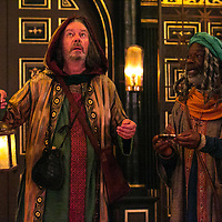 The Inn at Lydda by WOLFSON ;<br /> Directed by Andy Jordan ;<br /> Joseph Marcell (as Casper) ;<br /> Kevin Moore (as Melchior) ;<br /> Sam Wanamaker Playhouse, Globe Theatre ;<br /> 6 September 2016 ;<br /> Credit: Pete Jones/ArenaPal ;<br /> www.arenapal.com
