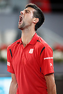 Novak Djokovic during the Madrid Open at Manzanares Park Tennis Centre, Madrid<br /> Picture by EXPA Pictures/Focus Images Ltd 07814482222<br /> 07/05/2016<br /> ***UK &amp; IRELAND ONLY***<br /> EXPA-ESP-160507-0008.jpg