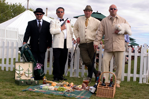 Characters and various at Goodwood Revival