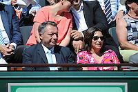 Thierry BRAILLARD  / Anne HIDALGO - 06.06.2015 - Jour 14 - Finale Femmes - Roland Garros 2015<br />Photo : Nolwenn Le Gouic / Icon Sport