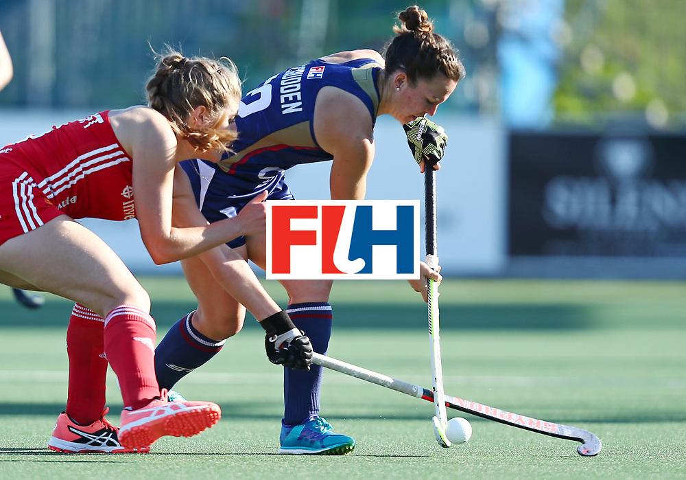 iNew Zealand, Auckland - 23/11/17  <br /> Sentinel Homes Women&rsquo;s Hockey World League Final<br /> Harbour Hockey Stadium<br /> Copyrigth: Worldsportpics, Rodrigo Jaramillo<br /> Match ID: 10305 - USA vs ENG<br /> Photo: (32) MC CRUDDEN Erin against (5) HAYCROFT Sarah