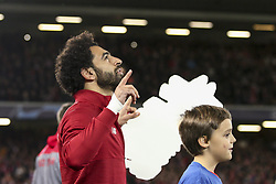 October 24, 2018 - Liverpool, England, United Kingdom - Liverpool forward Mohamed Salah (11) during the Uefa Champions League Group Stage football match n.3 LIVERPOOL - CRVENA ZVEZDA on 24/10/2018 at the Anfield Road in Liverpool, England. (Credit Image: © Matteo Bottanelli/NurPhoto via ZUMA Press)