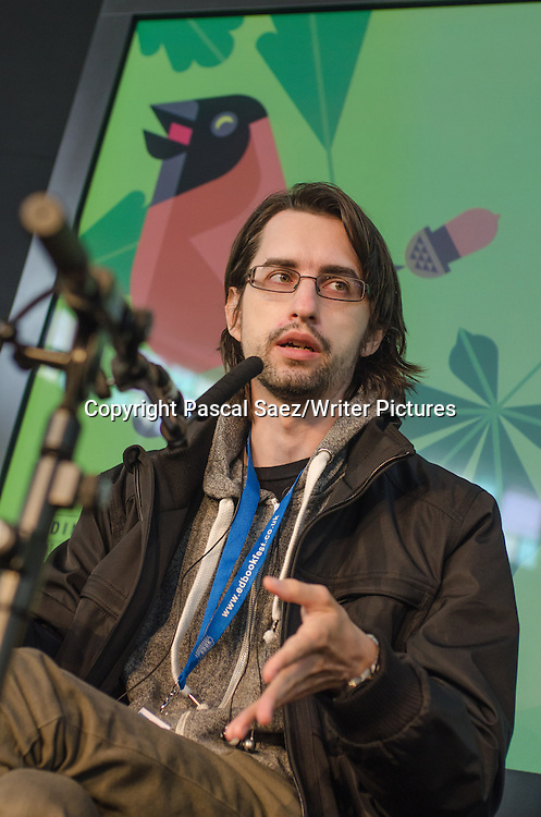 Clemens Setz, Austrian writer, on stage at the Edinburgh International Book Festival. 22nd August 2014<br />
