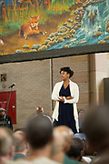 "Meroë Khalia Adeeb performs at Attica Correctional Facility in Attica, New York on Tuesday, July 25, 2017. The Glimmerglass Festival, an opera company in Cooperstown, New York, performed songs from George Gershwin's ""Porgy and Bess"" for inmates."