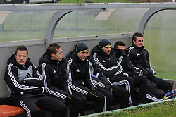 Players of Maribor before football match between ND Mura 05 and NK Maribor in 21th Round of Slovenian First League PrvaLiga NZS 2012/13 on December 2, 2012 in Murska Sobota, Slovenia. (Photo By Ales Cipot / Sportida)