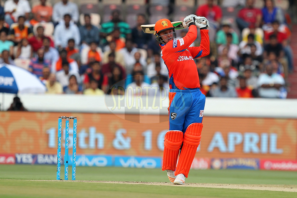 Jason Roy of Gujrat Lions during match 6 of the Vivo 2017 Indian Premier League between the Sunrisers Hyderabad and the Gujarat Lions held at the Rajiv Gandhi International Cricket Stadium in Hyderabad, India on the 9th April 2017Photo by Prashant Bhoot - IPL - Sportzpics