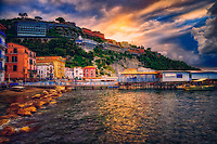 """Misty sunset over Marina Grande Sorrento""..."