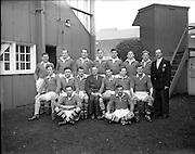 23/11/1952<br /> 11/23/1952<br /> 23 November 1952<br /> Interprovincial Rugby: Munster v Leinster at Lansdowne Road, Dublin. The Munster team.