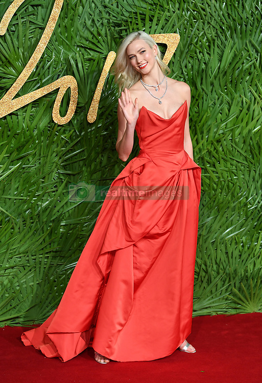 Karlie Kloss attending the Fashion Awards 2017, in partnership with Swarovski, held at the Royal Albert Hall, London. Picture Credit Should Read: Doug Peters/ EMPICS Entertainment