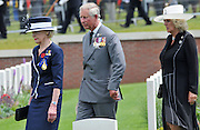 Prince Charles and the Australian Governor General Her excellency Quentin Bryce and Camilla Parker-Bowles-.The reinterment of the UNKNOWN SOLDIER (WWI) PHEASANT WOOD FROMELLES FRANCE .BY JAYNE RUSSELL 19TH JULY 2010..VC CORNER ON THE MORNING OF THE SERVICE.