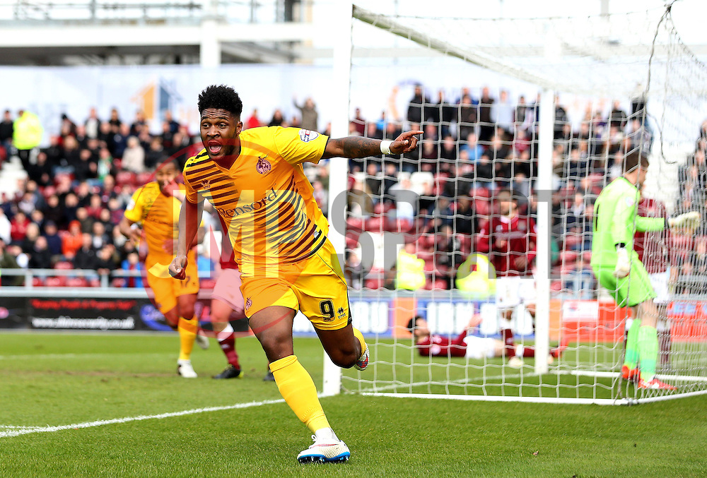 Ellis Harrison of Bristol Rovers celebrates scoring a late equalising goal - Mandatory by-line: Robbie Stephenson/JMP - 09/04/2016 - FOOTBALL - Sixfields Stadium - Northampton, England - Northampton Town v Bristol Rovers - Sky Bet League Two