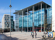 BBC Cymru Wales TV studios headquarters building, Central Square, Cardiff, South Wales, UK opened 2019 designed by Foster and Partners