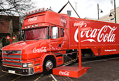 20 DEC 2015 Coca-Cola Truck at Romford Essex