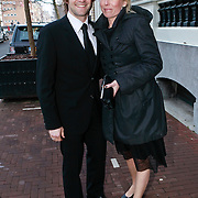 NLD/Amsterdam/20110315 - Inloop Ard Schenk Awards 2011, Mark Tuitert en partner Helen van Goozen