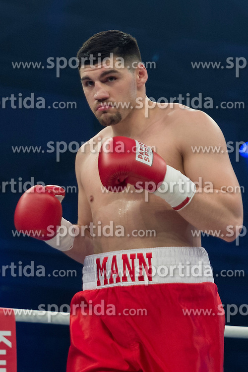 12.03.2016, Jahnsportforum, Neubrandenburg, GER, Boxgala, WBA Weltmeisterschaftskampf, im Bild v.l. Artur Mann // during the WBA Light Heavyweight World Championship Boxgala at the Jahnsportforum in Neubrandenburg, Germany on 2016/03/12. EXPA Pictures &copy; 2016, PhotoCredit: EXPA/ Eibner-Pressefoto/ Koch<br /> <br /> *****ATTENTION - OUT of GER*****
