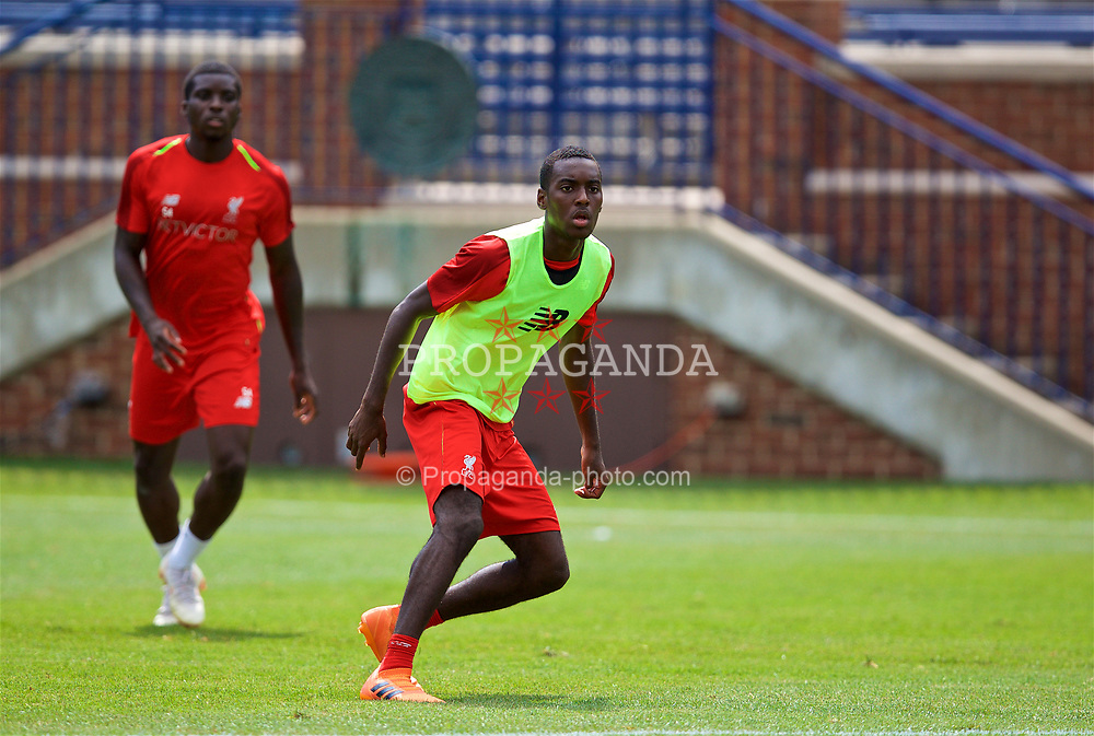 ANN ARBOR, USA - Friday, July 27, 2018: Liverpool's Rafael Camacho during a training session ahead of the preseason International Champions Cup match between Manchester United FC and Liverpool FC at the Michigan Stadium. (Pic by David Rawcliffe/Propaganda)