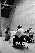 The Dehler Quartet in performance at chateau Talcy, a historic site in France's Loire Valley.