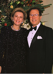 BARON & BARONESS JEAN-LOUIS de GUNZBURG, at a dinner in London on 30th November 1998.MMK 13