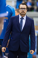 San Pablo Burgos assistant coach Fran Hernando during Liga Endesa match between Real Madrid and Unicaja Malaga at Coliseum Burgos in Burgos , Spain. January 27, 2018. (ALTERPHOTOS/Borja B.Hojas)