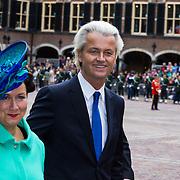 NLD/Den Haag/20130917 -  Prinsjesdag 2013, Geert Wilders en partner Krisztina