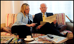 The Foreign Secretary William Hague waits in the green room with his wife Ffion before delivering his speech to the Conservative Party Conference in Birmingham, Sunday October 3, 2010. Photo By Andrew Parsons / i-Images.