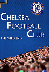Chelsea fans in the Shed End of Stamford Bridge