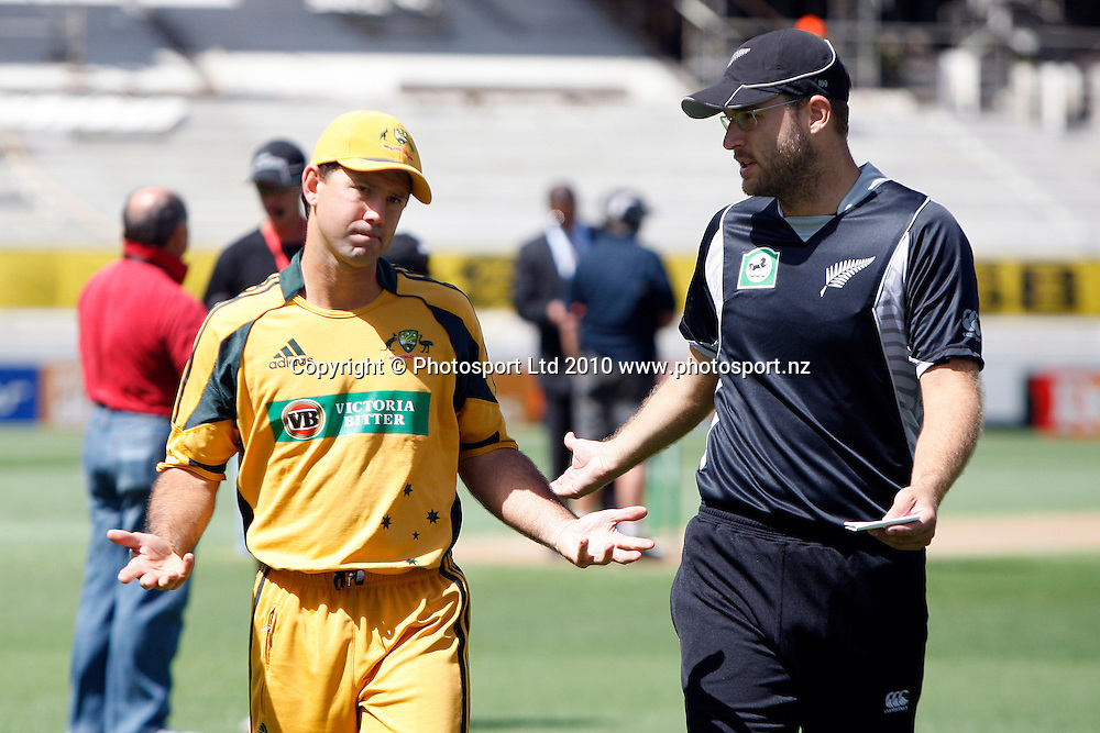 Ricky Ponting and Daniel Vettori.<br />