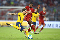August 2, 2017 - Munich, Germany - Sime Vrsaljko of Atletico de Madrid and Georgino Wijnaldum of Liverpool during the Audi Cup 2017 match between Liverpool FC and Atletico Madrid at Allianz Arena on August 2, 2017 in Munich, Germany. (Credit Image: © Matteo Ciambelli/NurPhoto via ZUMA Press)