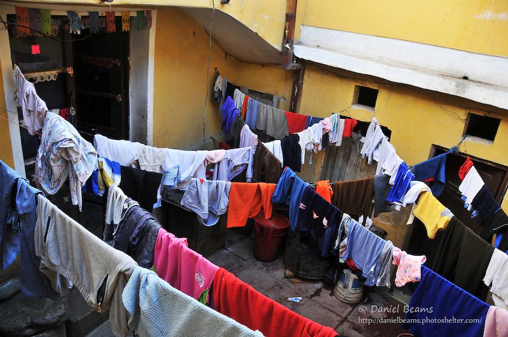 Laundry drying in Potosi, Bolivia