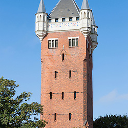 The water tower from 1895 was designed by Christian Hjerrild Clausen who had been inspired by Nuremberg's medieval Nassauer Haus. Standing at the top of a cliff, it commands excellent views of the city and the harbour from its platform which is open to the public.