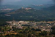 Val d'Agri, 13/06/2015: vista del centro Olio dell'ENI e di Grumento Nova - view of ENI Energy Company Oil Cente
