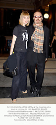 DAVE & ANOUSKA STEWART he is the musician at a party in London on 15th April 2003. PIX 455