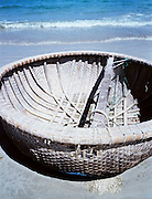 Coracle on the beach at Con Son.
