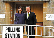 06/05/2010..David and Samantha Cameron Vote in the Village of Spelsbury this morning.