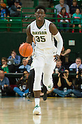 WACO, TX - JANUARY 31: Johnathan Motley #35 of the Baylor Bears brings the ball up court against the Texas Longhorns on January 31, 2015 at the Ferrell Center in Waco, Texas.  (Photo by Cooper Neill/Getty Images) *** Local Caption *** Johnathan Motley