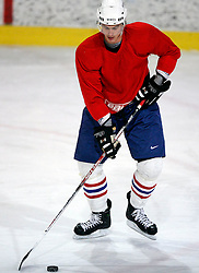 Ziga Pavlin  at  hockey training of Slovenian national team, on December 12, 2007 in Bled - Ice Arena, Slovenia. (Photo by Vid Ponikvar / Sportal Images)