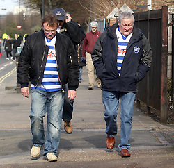QPR fans arrive at Loftus Road - Photo mandatory by-line: Robbie Stephenson/JMP - Mobile: 07966 386802 - 22/03/2015 - SPORT - Football - London - Loftus Road - Queens Park Rangers v Everton - Barclays Premier League