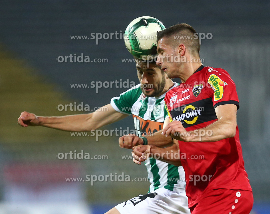 05.05.2018, Pappelstadion, Mattersburg, AUT, 1. FBL, SV Mattersburg vs Cashpoint SCR Altach, 33. Runde, im Bild v.l. Michael Novak (SV Mattersburg) und Adrian Grbic (Cashpoint SCR Altach) // during the Austrian Football Bundesliga 33th Round match between SV Mattersburg and Cashpoint SCR Altach at the Pappelstadion in Mattersburg, Austria on 2018/05/05. EXPA Pictures © 2018, PhotoCredit: EXPA/ Thomas Haumer