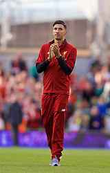 DUBLIN, REPUBLIC OF IRELAND - Saturday, August 5, 2017: Liverpool's Marko Grujic applauds the supporters after a preseason friendly match between Athletic Club Bilbao and Liverpool at the Aviva Stadium. (Pic by David Rawcliffe/Propaganda)