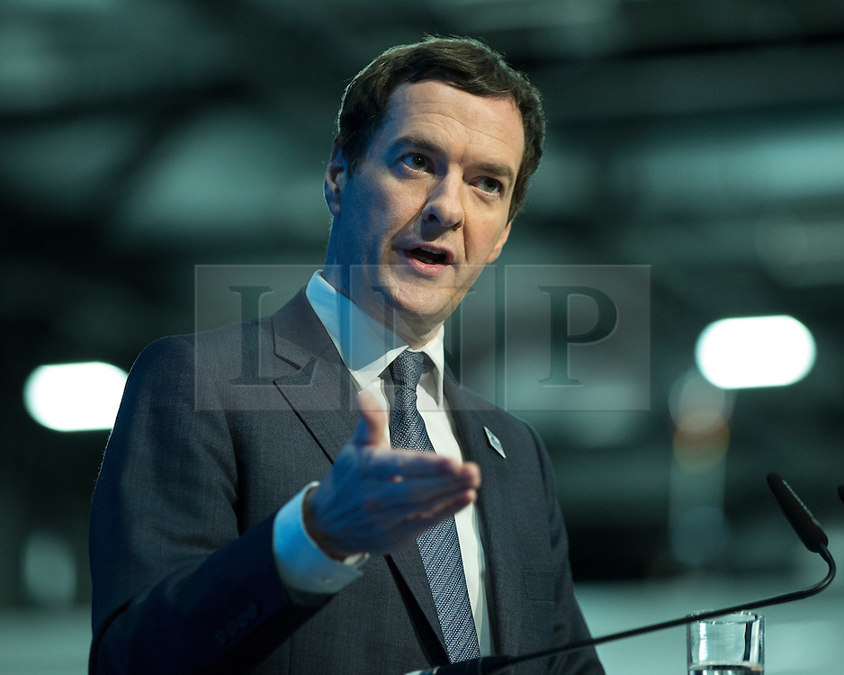 © Licensed to London News Pictures . 13/06/2016 . Liverpool , UK . Chancellor of the Exchequer , GEORGE OSBORNE , speaks at the International Festival for Business at the Liverpool Exhibition Centre . Photo credit: Joel Goodman/LNP
