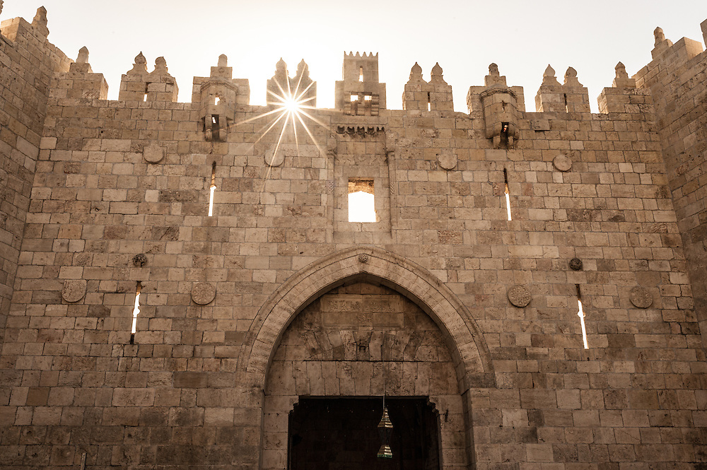 The Damascus Gate in Jerusalem, Israel