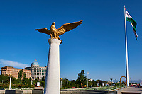 Tadjikistan, Asie centrale, Douchanbé, Bayrak, le drapeau le plus haut du monde édifié pour les 20 ans d'indépendance du pays // Tajikistan, Central Asia Douchanbe, Bayrak the highest flag of the world