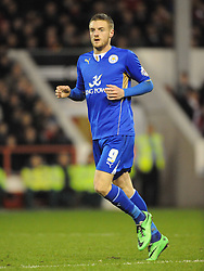 Jamie Vardy, Leicester City,  Nottingham Forest v Leicester City, City Ground Nottingham,  Sky Bet Championship, 19th Febuary 2014
