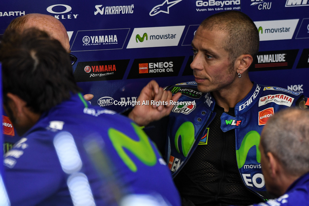 June 23rd 2017, TT Circuit, Assen, Netherlands; MotoGP Grand Prix TT Assen, Free practice Day; Valentino Rossi (Movistar Yamaha)during the free practice