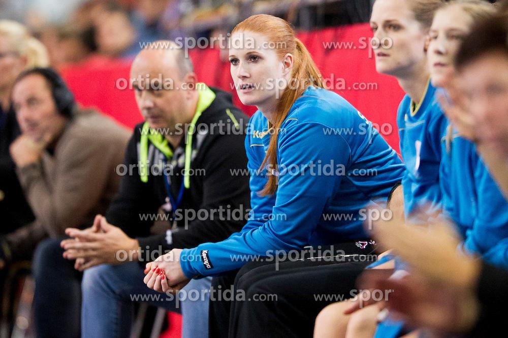 Lina Krhlikar of Slovenia during handball match between Women National Teams of Slovenia and Montenegro in 2016 Women's European Championship Qualification, on October 11, 2015 in Arena Kodeljevo, Ljubljana, Slovenia. Photo by Urban Urbanc / Sportida