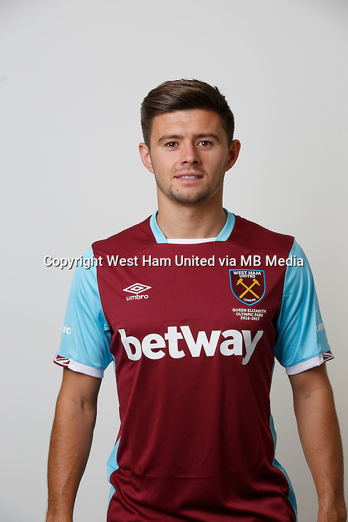 LONDON, ENGLAND - AUGUST 06: Aaron Cresswell of West Ham poses during a Premier League portrait session on August 6, 2016 in London, England. (Photo by Tom Shaw/Getty Images)