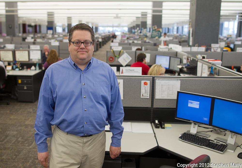 Von Plagmann at Transamerica Capital Management in Cedar Rapids, Iowa on Tuesday, January 24, 2012.