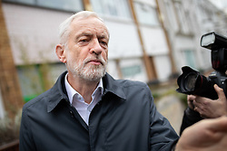 © Licensed to London News Pictures. 15/01/2019. London, UK. Leader of the Labour Party Jeremy Corbyn leaves his home in north London this morning. Today, MPs are due to vote on British Prime Minister Theresa May's EU withdrawal deal, after the previous vote in December was postponed. On Sunday, Corbyn said he would try to trigger a general election if May's deal is rejected. Photo credit : Tom Nicholson/LNP